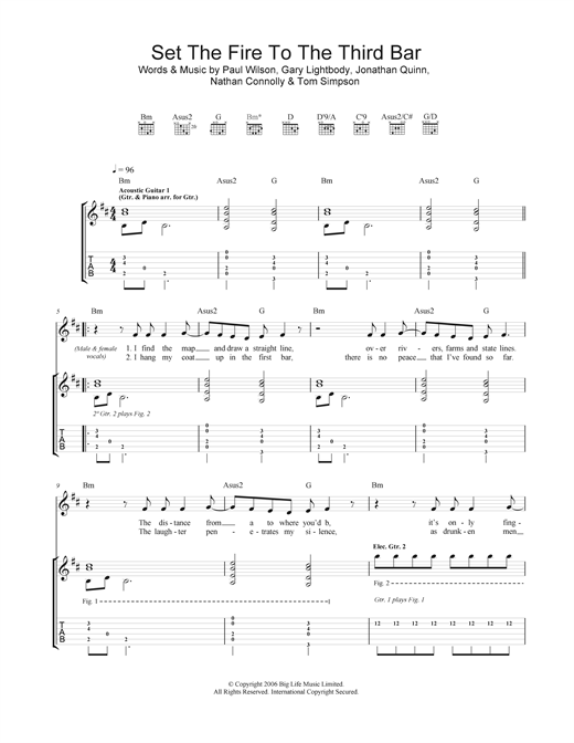 Set The Fire To The Third Bar Sheet Music