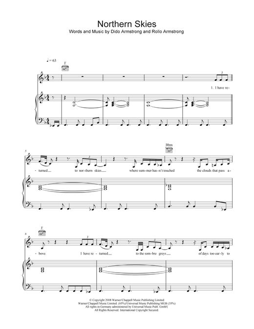 Northern Skies Sheet Music