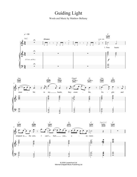 Guiding Light Sheet Music