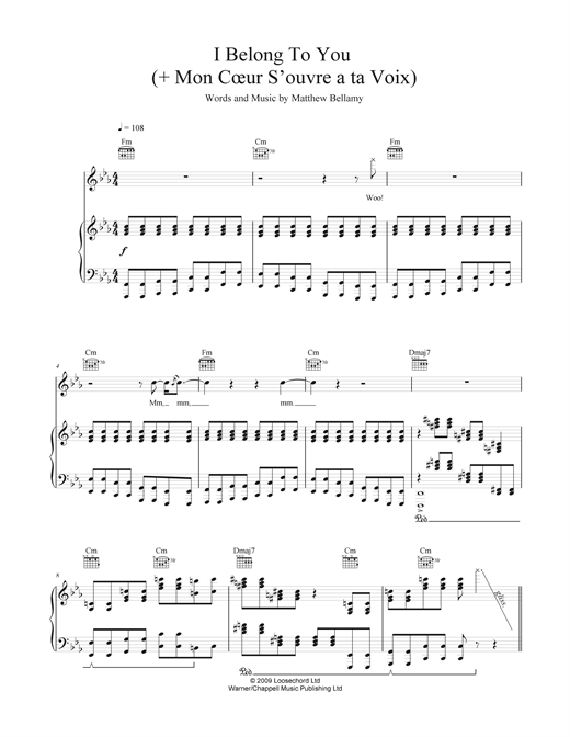 I Belong To You (+ Mon Cœur S'ouvre À Ta Voix) Sheet Music