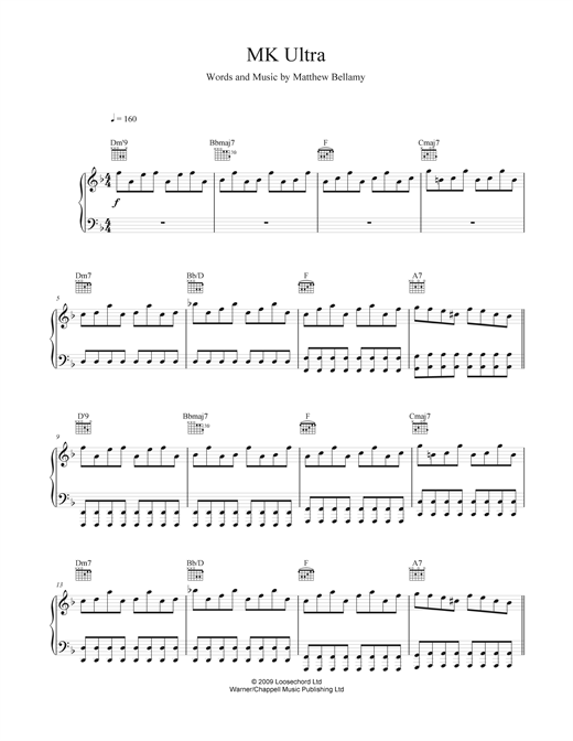 MK Ultra Sheet Music