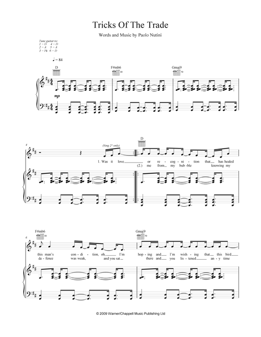 Tricks Of The Trade Sheet Music