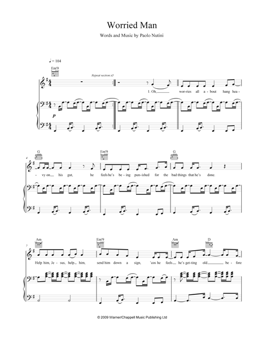 Worried Man Sheet Music