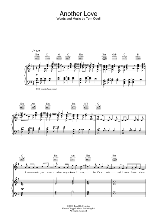 Another Love Sheet Music