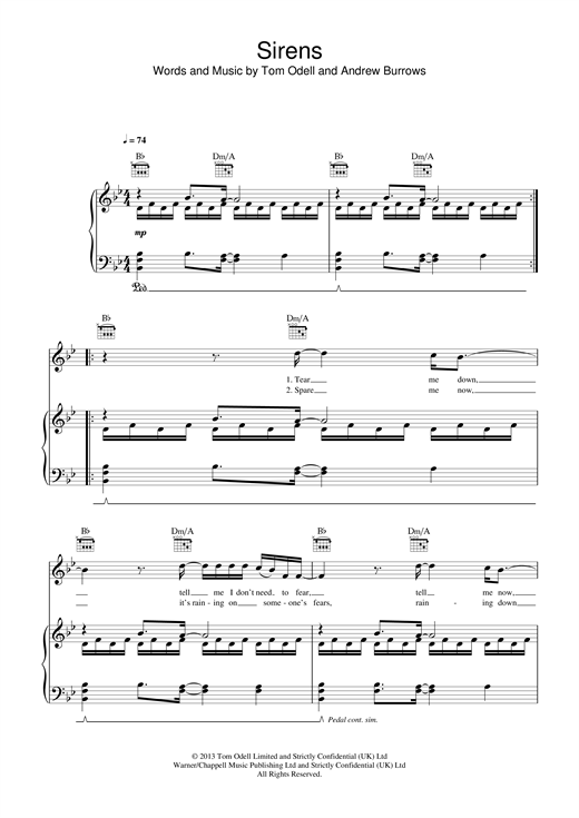 Sirens Sheet Music