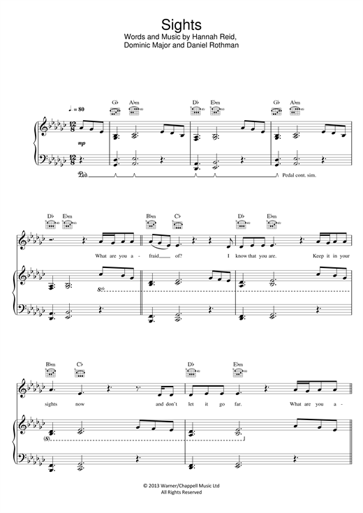 Sights Sheet Music