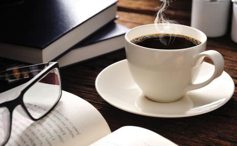 Image result for early morning coffee and books