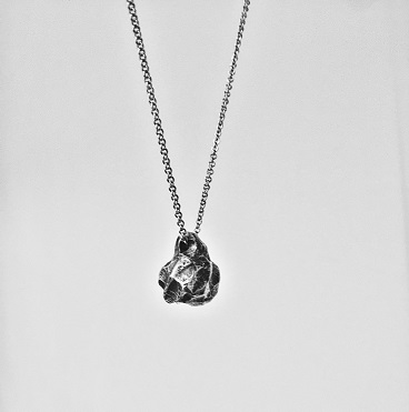 DROP 925 Silver Necklace - Meteorite