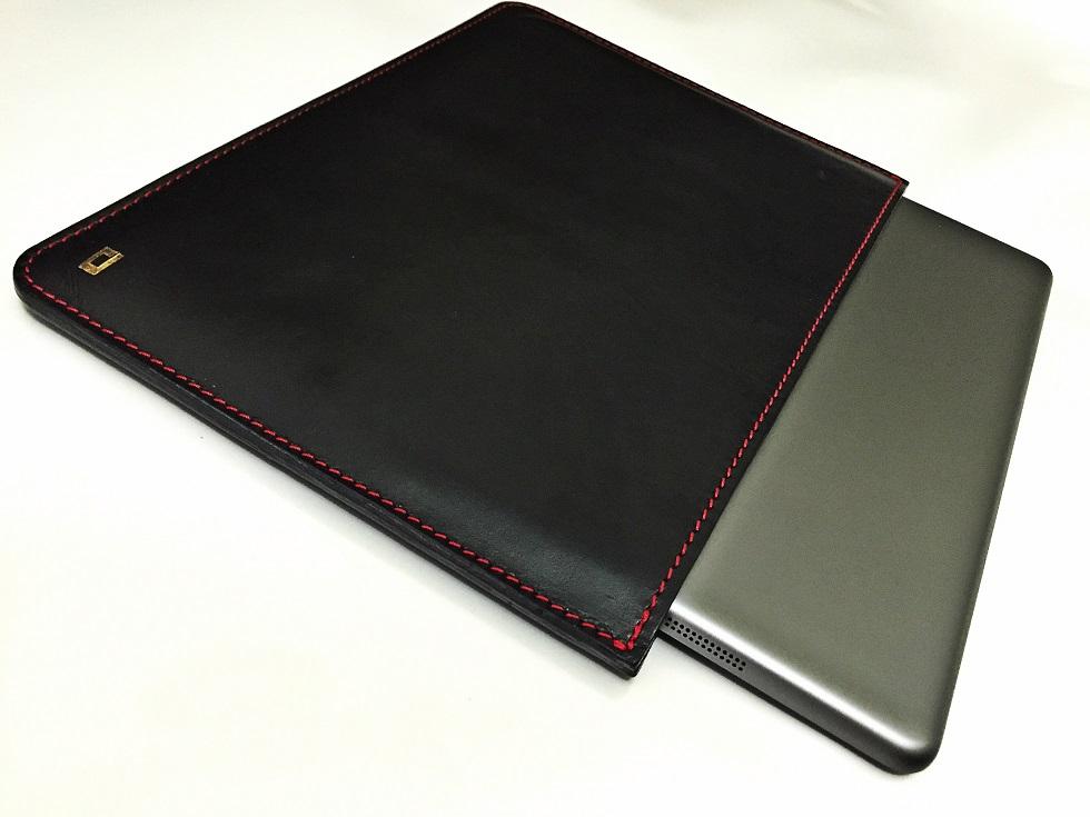 DROP DBlack Leather iPad Air & 2 Sleeve
