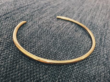 DROP 18K Yellow Gold Cuff - Circle