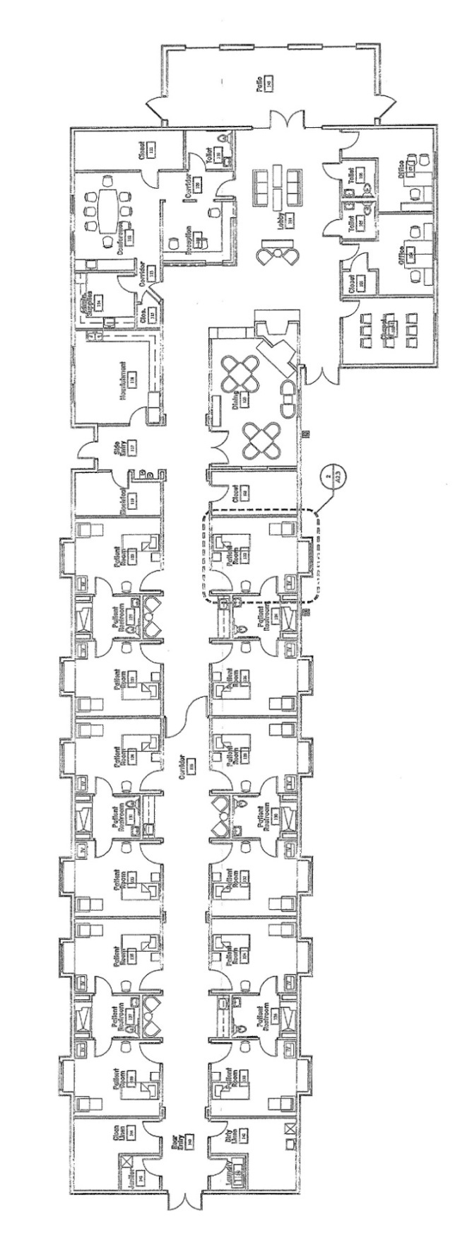 Section image floor plan
