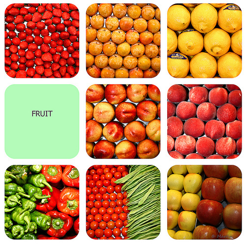 Section image mosaico de fruta