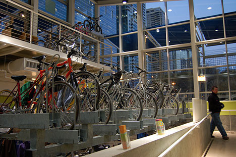 Section image mcc bike parking atrium