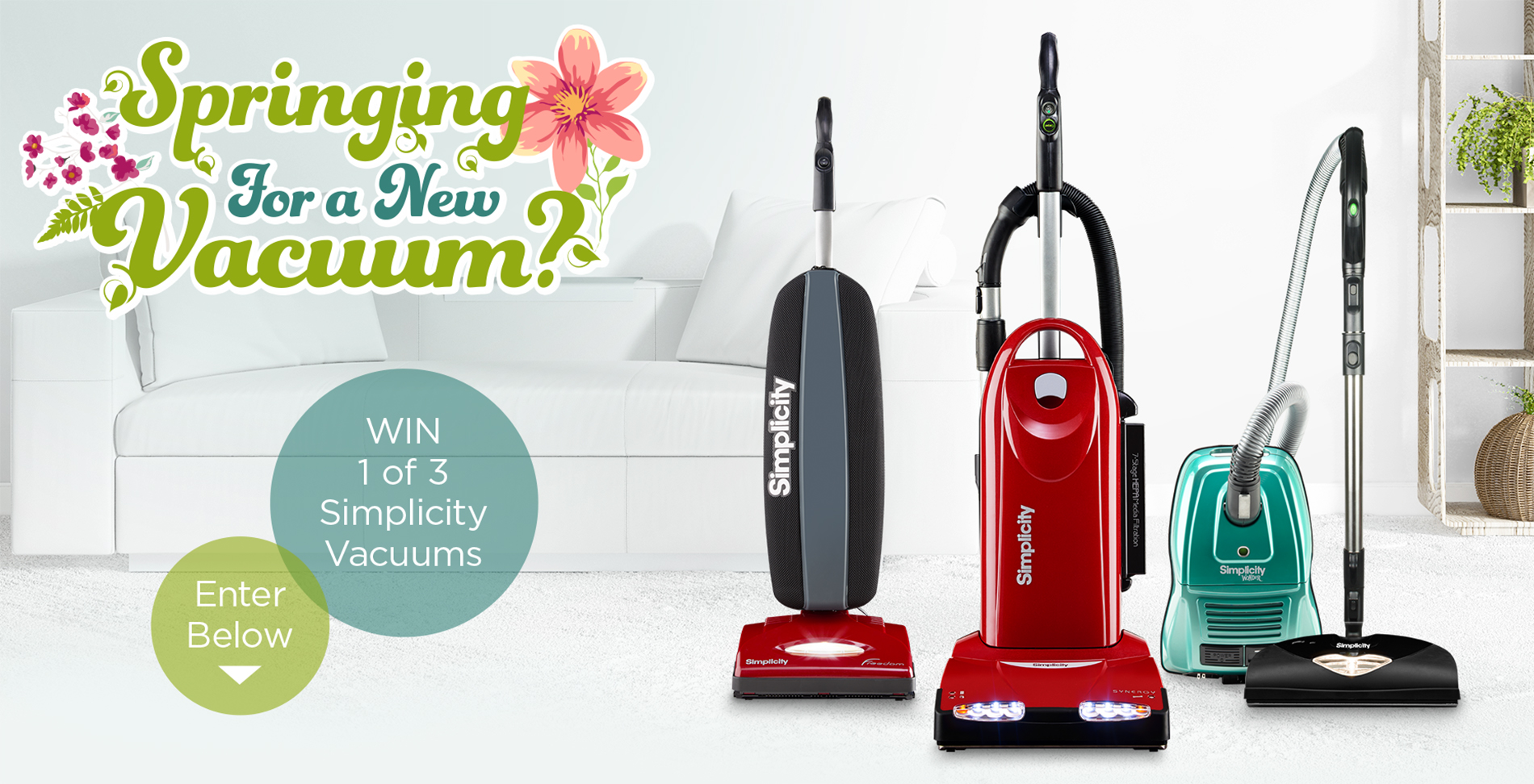 Springing for a new Vacuum? Win 1 of 3 Simplicity Vacuums! Enter Below!