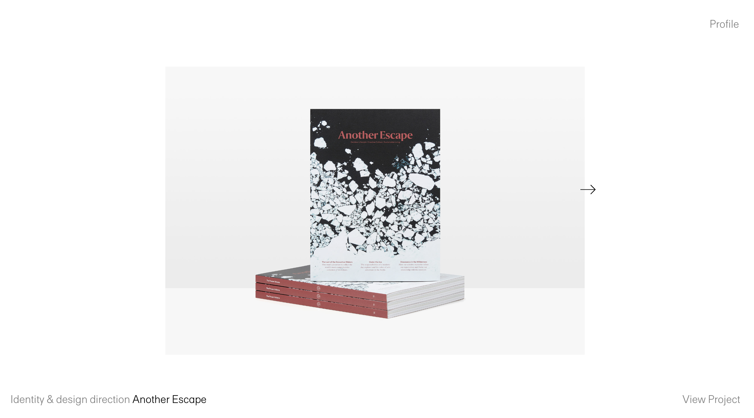 Horizontal Design Portfolio Site