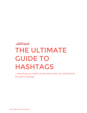 Download The Ultimate Guide to Hashtags Across Social Media