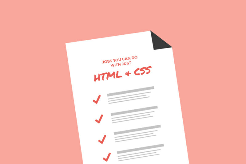 html and css jobs
