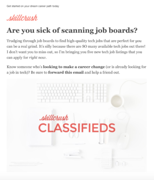 Handpicked jobs listings, right in your inbox!