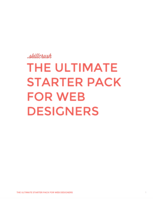 Get Your ULTIMATE Starter Pack for Web Designers