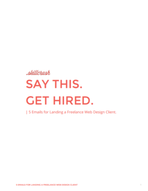 Get Our 5 Emails for Landing a Freelance Web Design Client