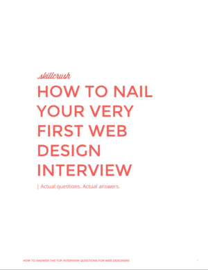 how to nail your first web design interview