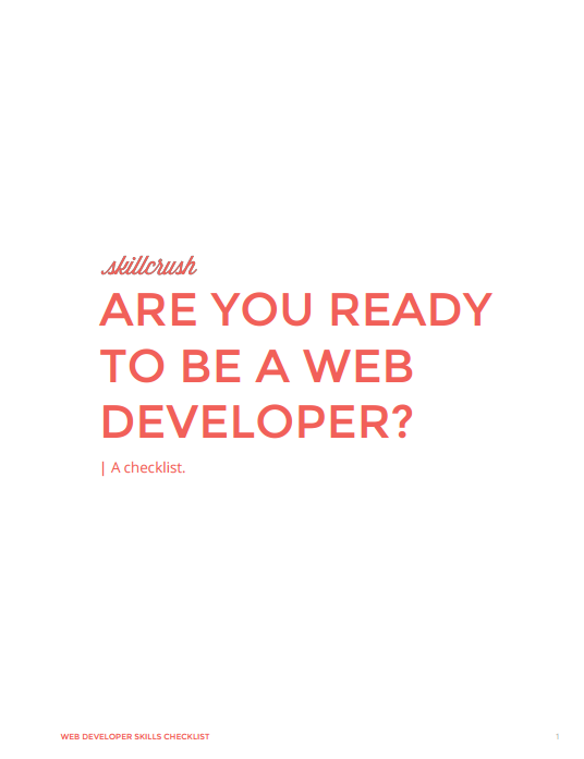 Checklist: Are you ready to be a web developer?