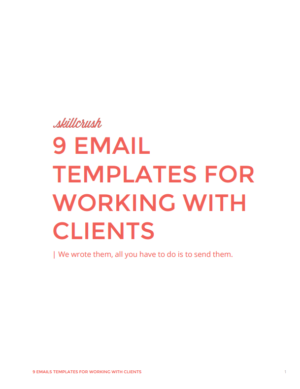 Download the 9 Email Templates for Working with Clients