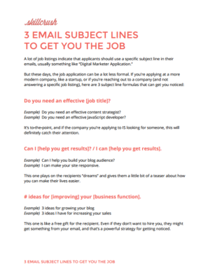 Download Our Guide to Email Subject Lines to Get You the Job