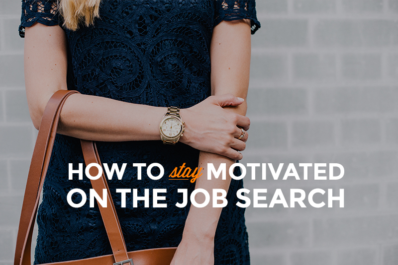 how to keep your spirits up during a job search