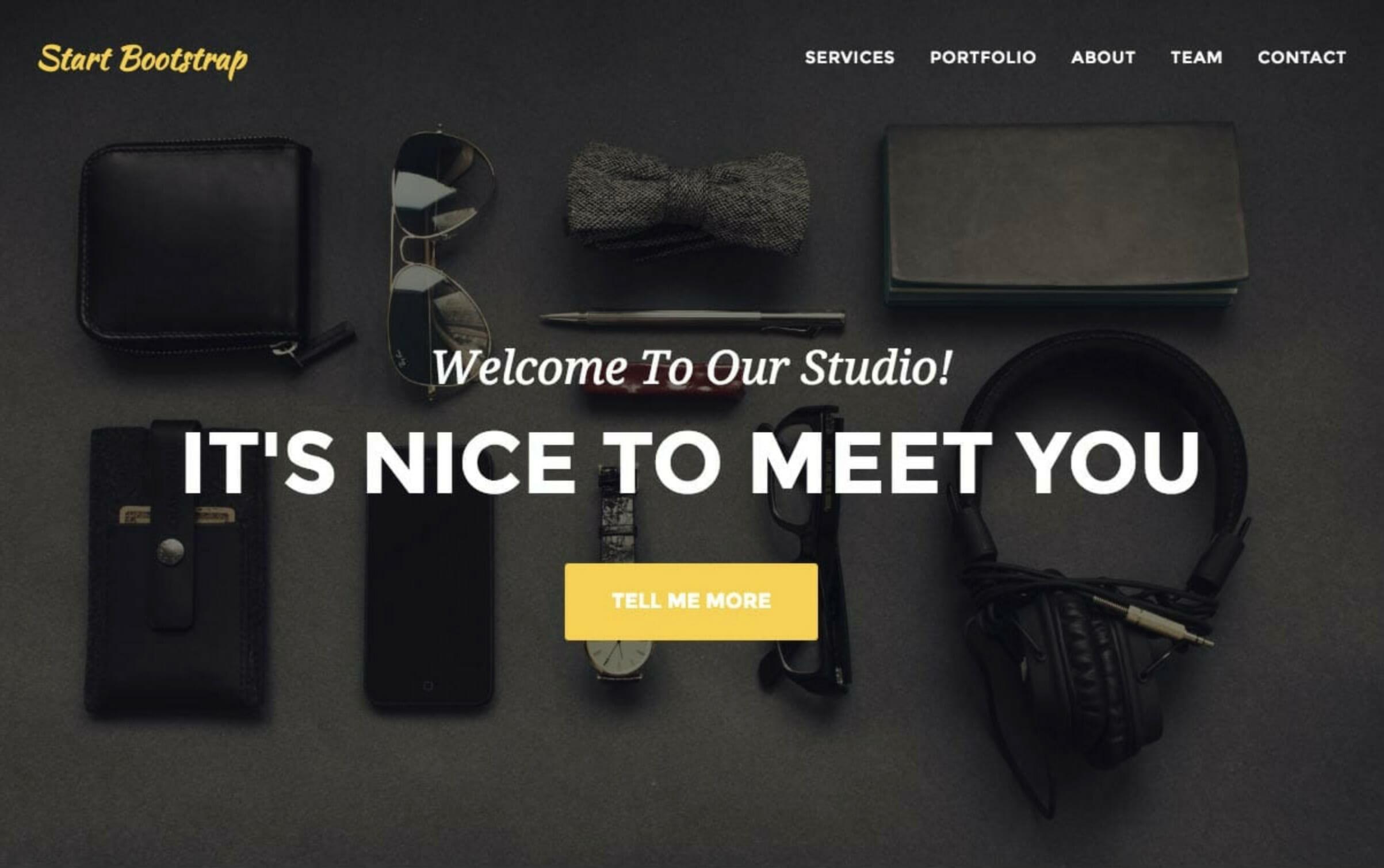portfolio example from Agency