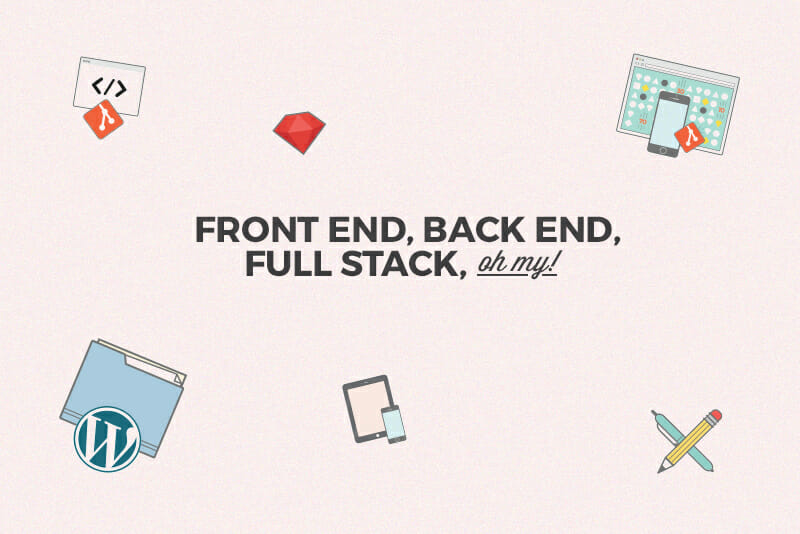 front end vs back end vs full stack web development
