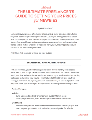Get Our FREE Guide to Charging for Freelance Design Work