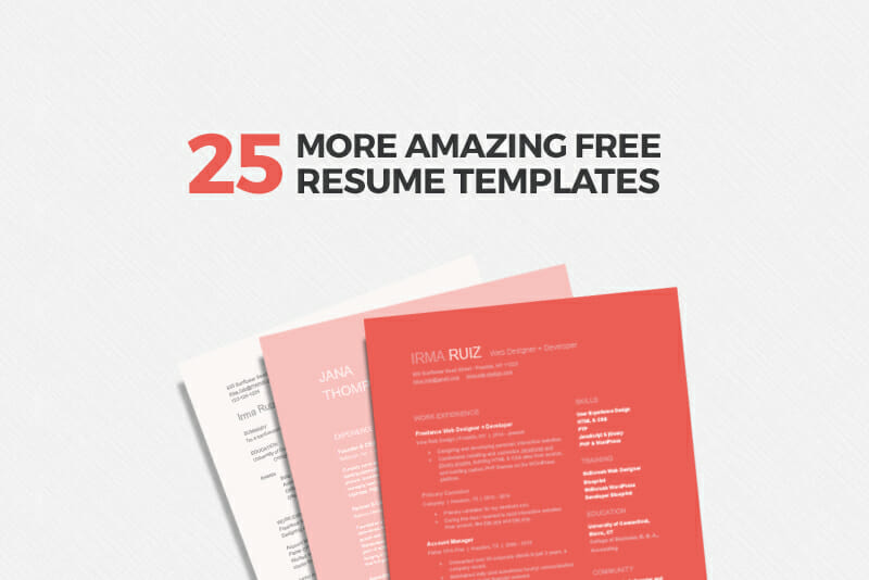 25 more free resume templates to help you land the job - Free Help With Resume