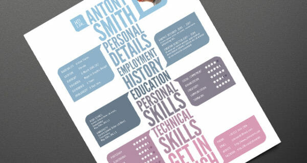 free creative typography resume template