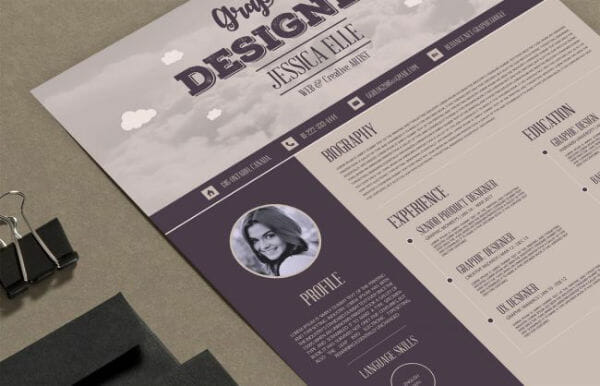 free vintage resume template professional creative download doc templates word http