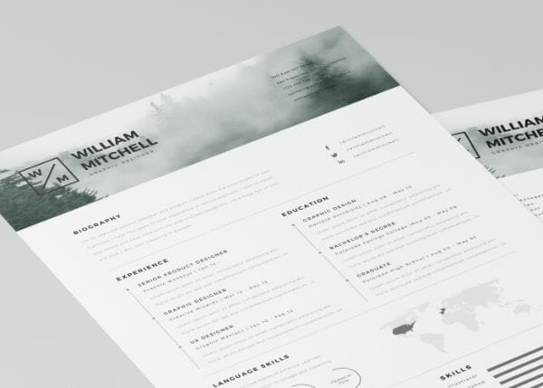 Free Minimal Resume Template  Design Resume Templates Free