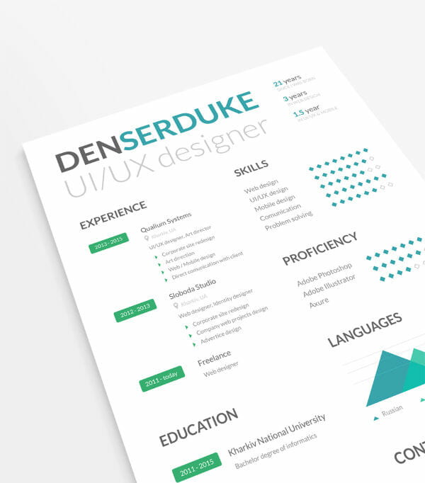 24 free resume templates to help you land the job free resume template with business cards flashek Image collections