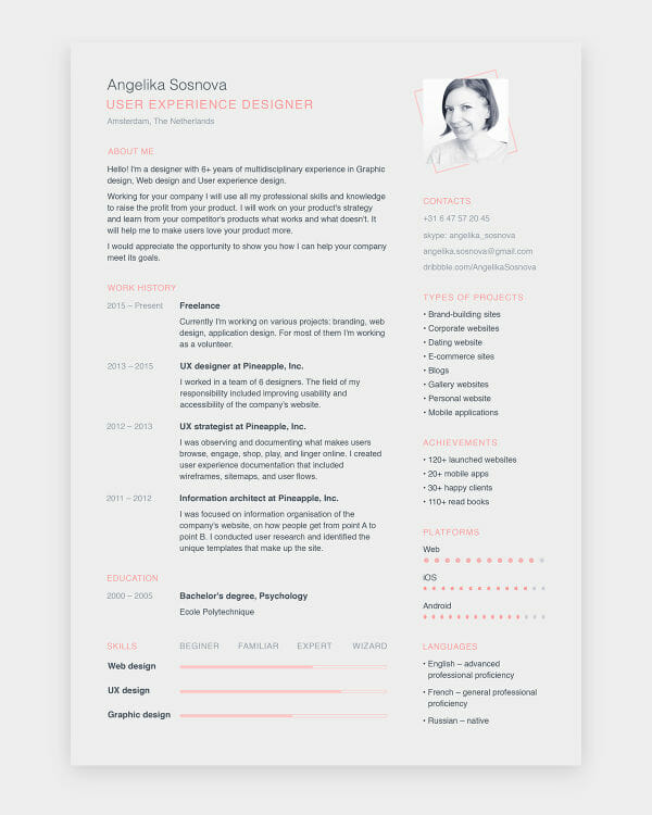 freeresumetemplates - Awesome free resume template with icons