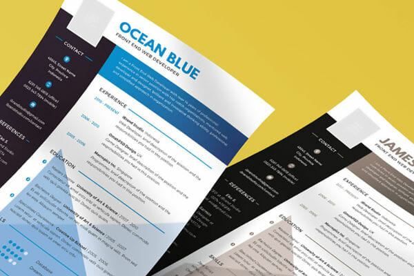 free colorful resume template download