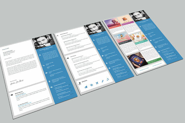 free resume portfolio template download