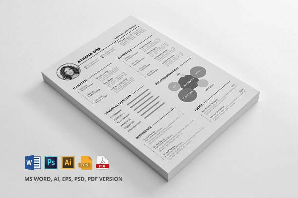 Free Word Illustrator Photoshop Resume Template Download  Psd Resume Template