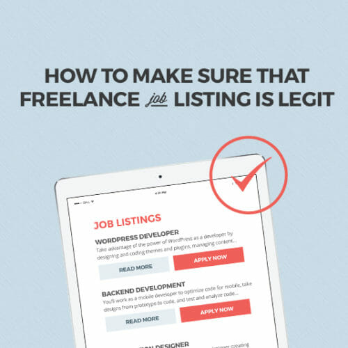 How to Make Sure That Freelance Job Listing is Legit