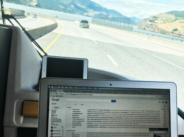 working remotely from a winnebago