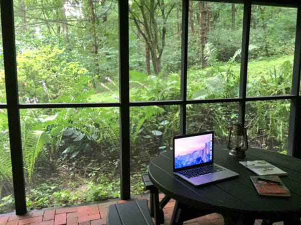 working remotely outside