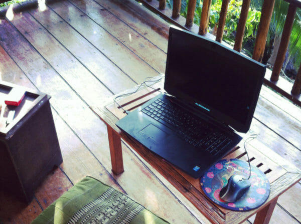 working remotely from the jungle