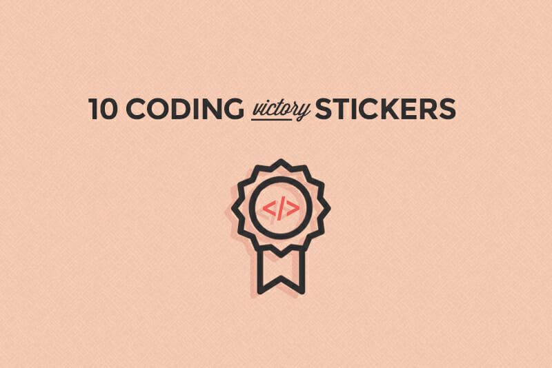coding victory stickers