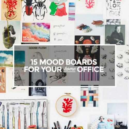 15 Gorgeous Mood Boards to Inspire Your Home Office