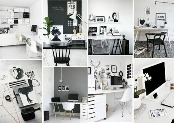 black and white moodboard