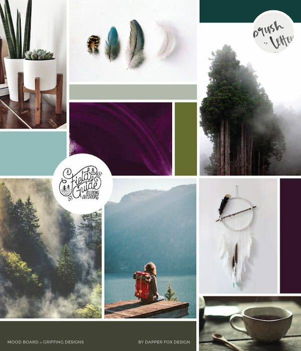 outdoors moodboard