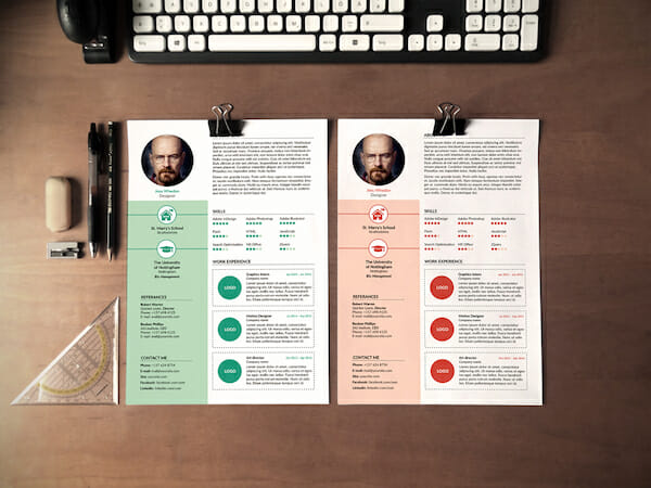 Colorful Free Microsoft Word Resume Template